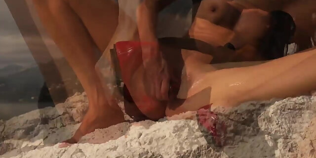anal fuck,gagged,huge tits,slave,